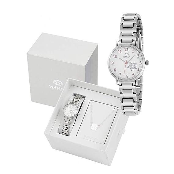 Conjunto Reloj Marea Niña B41248/5 Pulsera Plata de Ley: Amazon.es: Relojes