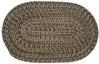 product image for Oval Braided Rug (2'x4'): Charles Blend- No Band