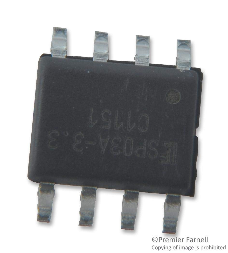 Pack of 20 3.3 V SPA LC03-3.3 Series Array Unidirectional SOIC TVS Diode 17 V LC03-3.3BTG 8 Pins LC03-3.3BTG