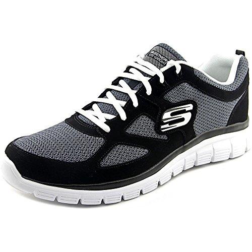 Skechers Burns Agoura Mens Sneakers Black/White 9.5 (Collection Skechers)
