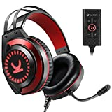 VANKYO Gaming Headset CM7000 Pro PS4 Headset with 7.1 Surround Sound Stereo Xbox One Headset, Gaming Headphones with Noise Canceling Mic & Memory Foam Ear Pads for PC, PS4, Xbox One, Nintendo Switch