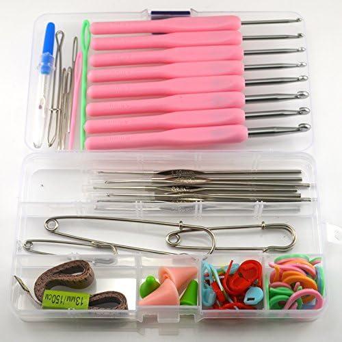 DIY Manualidades Agujas de tejer ganchillo gancho barbudo aguja, aguja Jersey bufanda zapatos Weaving herramientas mano ganchillo Kits: Amazon.es: Juguetes y juegos