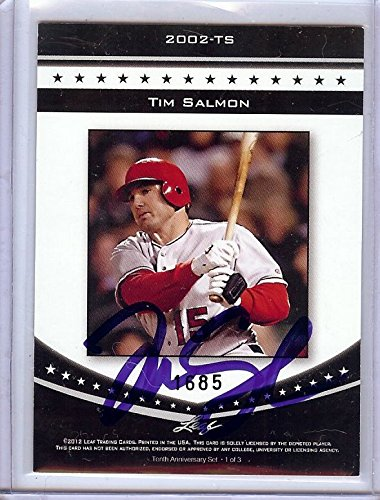 Edition Salmon - Tim Salmon Signed Autographed Trading Card 2012 Leaf Limited Edition GA