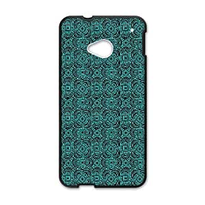 HTC One M7 Phone Cases Black Anchor Pattern BCH010073