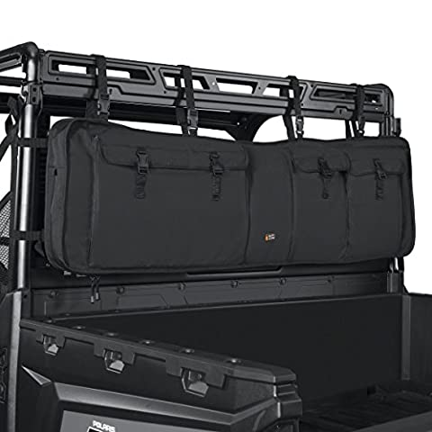 Classic Accessories 18-129-010401-00 Black QuadGear UTV Double Gun Carrier (For Most UTV Roll - Lash Point