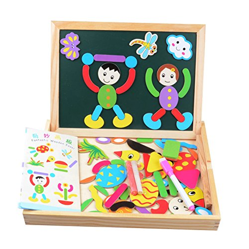 GreenSun TM Educational Toy Multifunctional Drawing Writing Board Magnetic Puzzle Toy Double Easel Toy for Boys and Girls