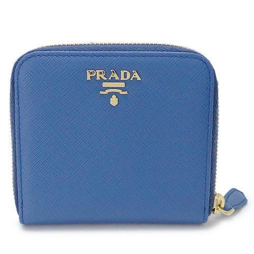 (プラダ) PRADA 折財布 1ML522 QWA F0013/SAFFIANO METAL AZZURRO 型押しレザー アズーロ[並行輸入品] B0799D1FKW