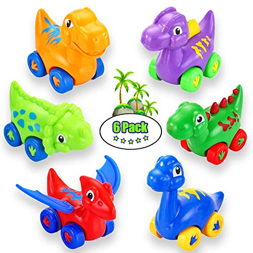 LUKAT Dinosaur Toy Cars for...