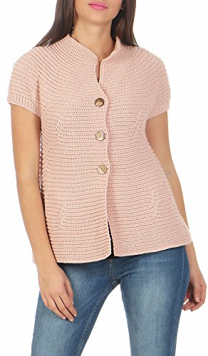 5060 Pull Malito Unique Cardigan Veste Rose Femme Boutons Taille Long Casual wrrqpIYU
