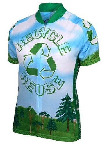 54e88e04e Amazon.com   World Jerseys Men s Recycle Cycling Jersey