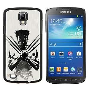 Qstar Arte & diseño plástico duro Fundas Cover Cubre Hard Case Cover para Samsung Galaxy S4 Active i9295 (Badass W0lverine X Man)
