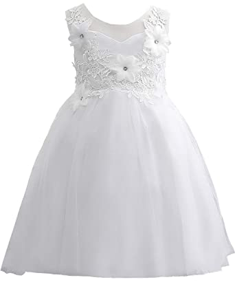 0b6b3910be Flower Girl Evening Dresses Cute Kids Lace Pageant Ball Gowns