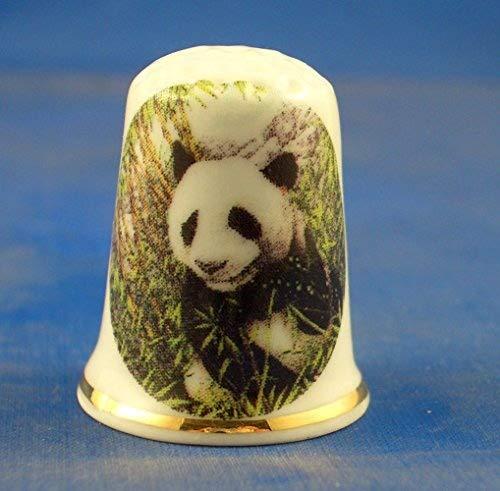 Coleccionable de Porcelana China dedal Panda gigante en peligro de extinci/ón