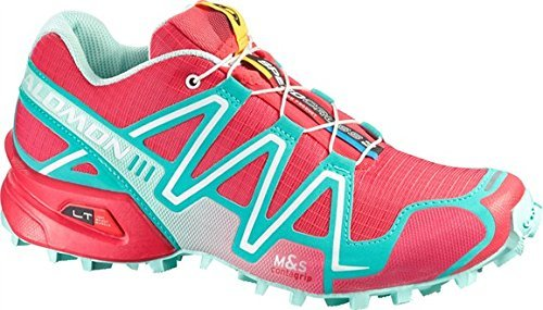 f63ec5d5c94e Salomon Women s Speedcross 3 Shoes Papaya   Softy Blue   Igloo Blue 10.5  and Spare Black Quicklace Kit