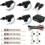 uxcell Car Central Locking System Keyless Entry System with 4 Power Door Lock Actuator Kit