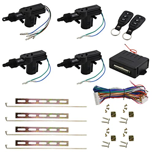 - uxcell Car Central Locking System Keyless Entry System with 4 Power Door Lock Actuator Kit