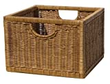 Image of Organize It All Wicker Storage Crate