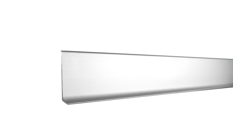 60 mm FUCHS Sockelleiste Linkes Endst/ück Aluminium Eloxiert silber matt H/öhe