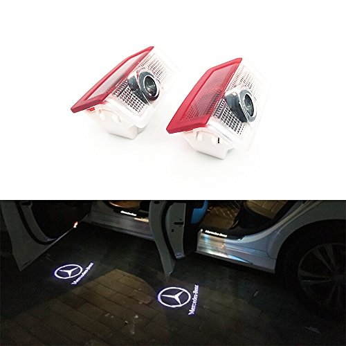 BAILONGJU 2pcs LED Car door courtesy laser projector Logo Ghost Shadow Light For Mercedes Benz E A B C ML Class w212 w166 w176