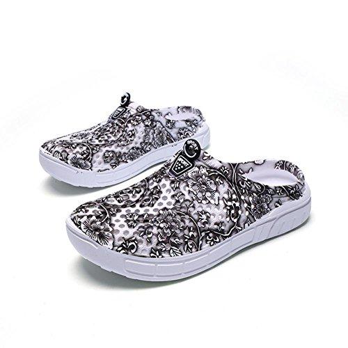 Ocasionales de Mujeres Sandalias Zapatos Zapatos Ecotrumpuk Verano de Huecos Gris Cómodos Las Planos del Playa wUgxvqvA