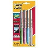 BIC 929652 Marking Metallic Marcador Permanente, Blister de 4 Piezas, Colores Surtidos