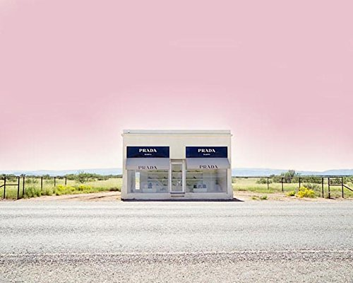 Prada Marfa desert home decor Texas photography 11x14 inch print by Audra Edgington Fine Art