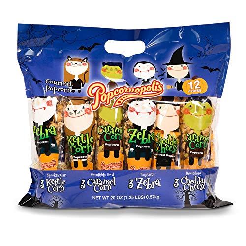Popcornopolis Halloween Gournet Popcorn Bag (12 cones 20 oz.) for $<!--$25.98-->