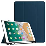 Fintie Case with Built-in Apple Pencil Holder for iPad Air 10.5' (3rd Gen) 2019 / iPad Pro 10.5' 2017 - [SlimShell] Ultra Lightweight Standing Protective Cover with Auto Wake/Sleep, Navy