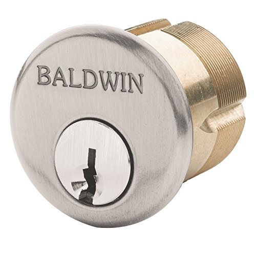Baldwin 8323 1-1/4 Inch Mortise Cylinder C Keyway, Lacquered Vintage (Lacquered Vintage Brass Door)