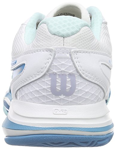 Wilson Damen Nvision Elite Woman Tennisschuhe Mehrfarbig (White / Mint Ice / Light Ultramarine)