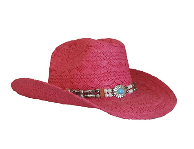 0d39ce482c680 Image Unavailable. Image not available for. Color  Q Headwear Fuchsia Pink  Toyo Cowgirl Western Hat