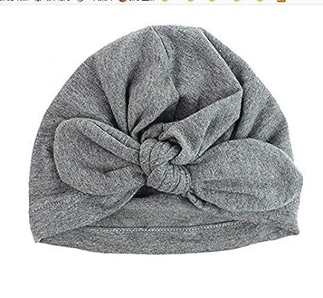 Yuhemii Gorro de Invierno, para Bebés, Niñas, Niños y Niñas, de Algodón Cálido, Diseño de Lazo, Blanco, 1
