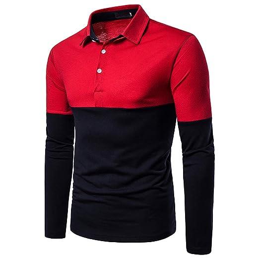 G&Armanis shop Polo Casual de Otoño para Hombre, Elegante Camisa ...