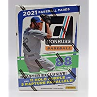 $33 » 2021 Panini Donruss MLB Baseball Blaster Box - 11 Packs of 8 Cards - 11 Holo Purple and 5…