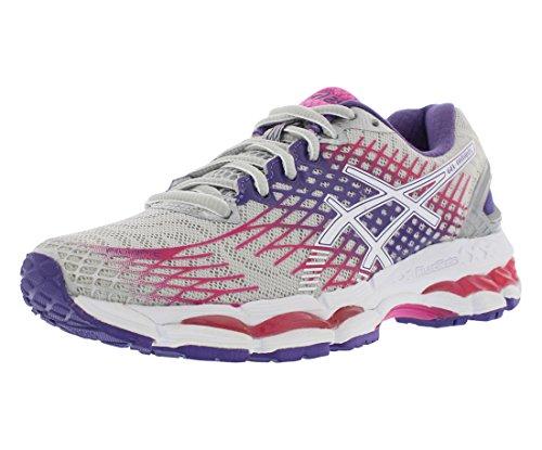 ASICS Women's Gel-Nimbus 17 Running Shoe,Lightning/White/Hot Pink,9.5 M US