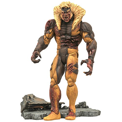 Marvel Select Marvel Comic Zombie Sabertooth 7.8 Inches Plastic Painted Action Figure