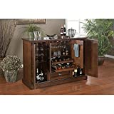 60-inch Elegant Spice Finish Home Wine Liquor Bar Shelf Storage