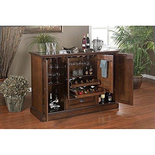 60-inch Elegant Spice Finish Home Wine Liquor Bar Shelf Storage
