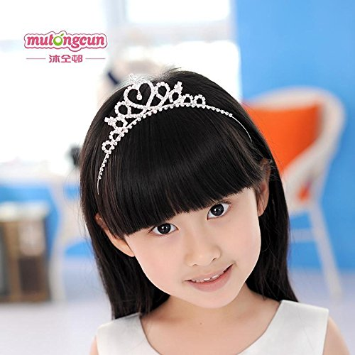 Quantity 1x Mu_colleagues_estate_ Crown Tiara Party Wedding Headband Women Bridal Princess Birthday Girl Gift children children dress _skirt_made_up_ Rhinestone ing Crown Tiara Party Wedding Headband