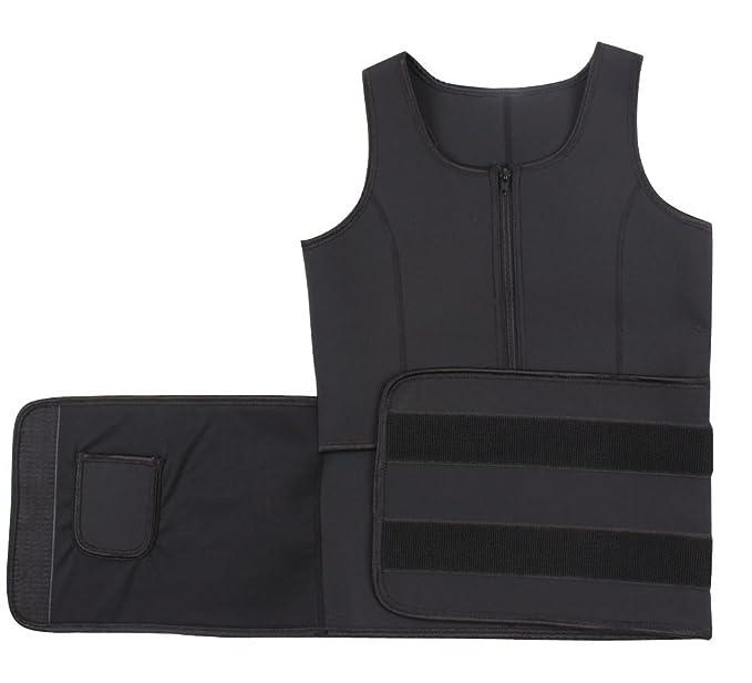 bb31c4fa71 Chicastic Latex Neoprene Sports Waist Trainer Vest - Double Support Black  Medium