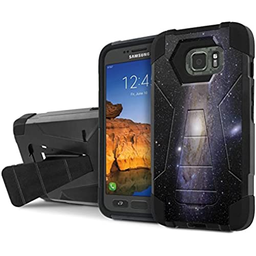 AT&T [Galaxy S7 Active] Armor Case [NakedShield] [Black/Black] Tough ShockProof [Kickstand] Phone Case - [Milky Sales