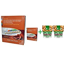 Promax Nutrition, Energy Bars, Double Fudge Brownie, 12 Bars, 2.64 oz (75 g) Each( 2 PACK )+ ( 2 PACK ) Made in Nature, Organic Apple Rings, 3 oz (85 g)