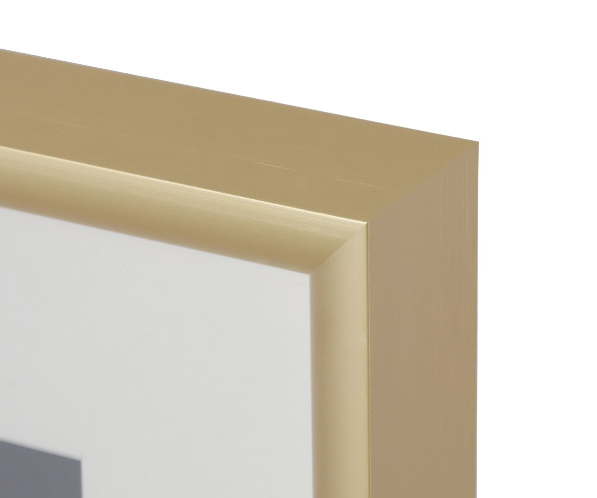 Glass Front Frametory 11x14 Gold Aluminum Frame Inner Fillet Edge Design AAG1328-1114-01-SF0464 11x14 Sawtooth Hangers for Wall Mounting Swivel Tabs Ivory Mat for 8x10 Picture