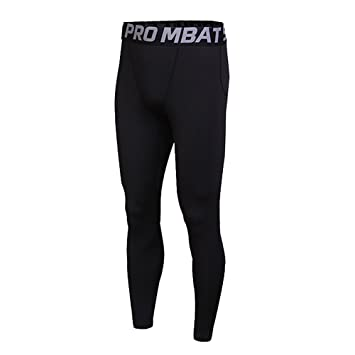 2dd080021b7f51 FELiCON® GYM Mens Running Sports Cycle Pants Men Men's Compression Tights  Wear Workout Clothes Quick
