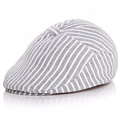 Moon Kitty Baby Boys Cotton newsboy Cap Pinstripe Hat Driving Hat Golf Cap For - Cotton Pinstripe Cap