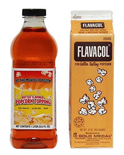 Flavacol Popcorn Seasoning & Buttery Flavor Popcorn Topping Combo - Gold Medal Combo