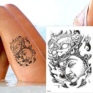 Handaxian 3pcs Buda Chino Sentado en el Tatuaje del Cuerpo del ...