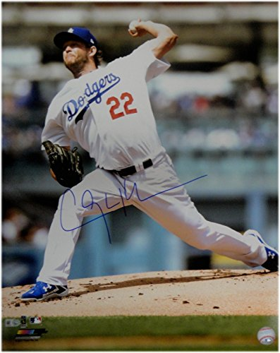 Clayton Kershaw Hand Signed Autographed 16x20 Photo Pitching LA Dodgers MLB Whte Hand Signed Pitching 16x20 Photograph