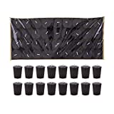 Mega Candles 72 pcs Unscented Black Votive Candle | Pressed Wax Candles 15 Hours 1.5'' x 2.25'' | for Home Décor, Wedding Receptions, Baby Showers, Birthdays, Celebrations, Party Favors & More
