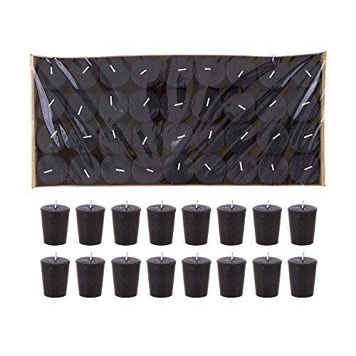 - Mega Candles 72 pcs Unscented Black Votive Candle | Pressed Wax Candles 15 Hours 1.5